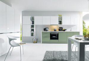schuller designs green and white kitchen