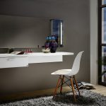 white floating desk and chair geha furniture