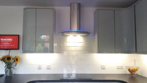 kitchen transformation, cooksleep, cooksleepnavenby, lighting, blue lighting, modern, bespoke kitchen