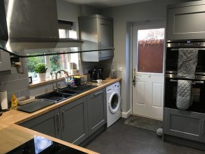 kitchen transformation, after, cooksleepnavenby, affordable kitchen, door, layout