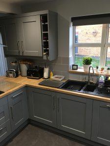 kitchen transformation, after, cooksleepnavenby, wine rack, storage