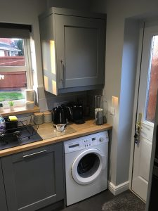 kitchen transformation, after, cooksleepnavenby, affordable kitchen, washing machine, units, cupboards
