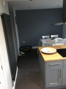 kitchen transformation, after, cooksleepnavenby, affordable kitchen, large cupboard, table