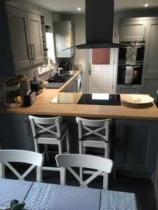 kitchen transformation, after, cooksleepnavenby, affordable kitchen, whole room, lighting, cupboards, storage, kitchen stori