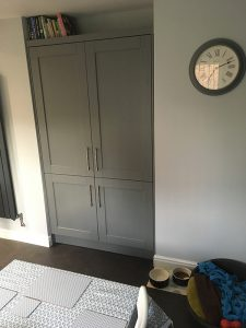 kitchen transformation, after, cooksleepnavenby, affordable kitchen, large cupboard, pantry cupboard