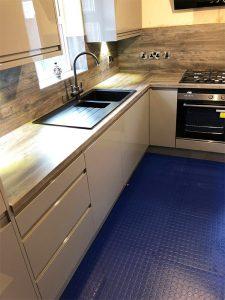cooksleep, kitchen design, kitchen transformation, , lincolnshire kitchens, blue flooring