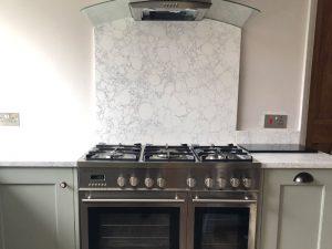 new kitchen showing the splashback