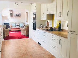 cooksleep, new kitchen, navenby kitchen, buckingham ivory door from trade mouldings, brightened room