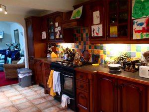 Old kitchen, dark wood, dark room, before the transformation