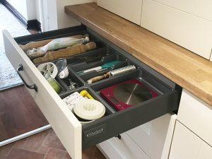cooksleep, new kitchen, navenby, buckingham ivory door, internal drawer compartments