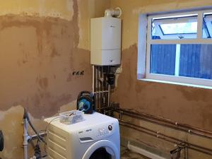 boiler, before, plaster